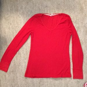 dna Couture RED long sleeve V-neck red thermal